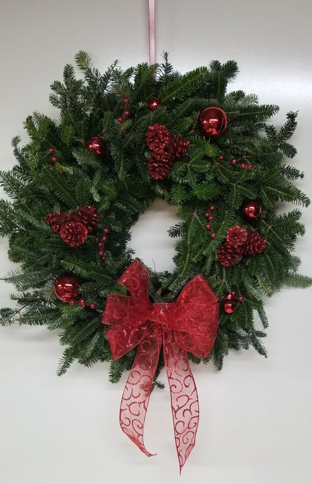 "22-24"" - Bedazzling Red Themed Wreath"