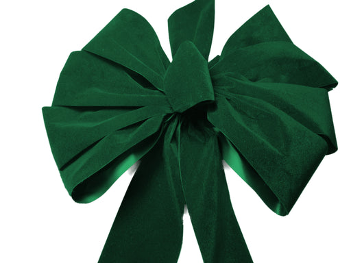 Large Emerald Green Velvet Bow