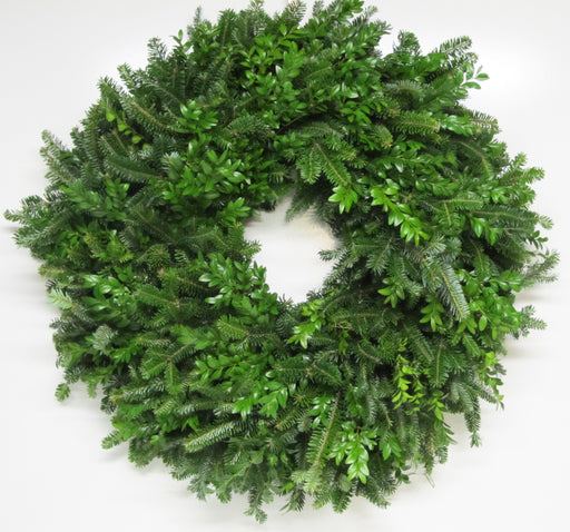 Single Face Fraser Fir & Boxwood Wreath