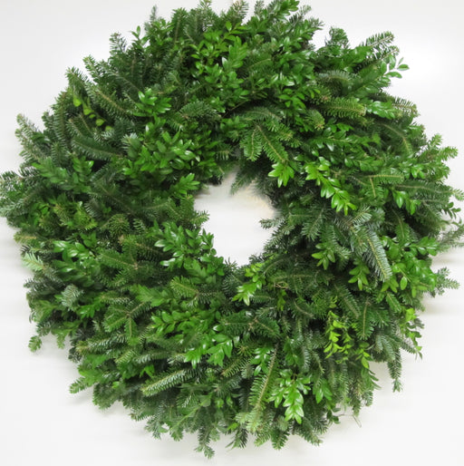 Double Face Fraser Fir & Boxwood Wreath