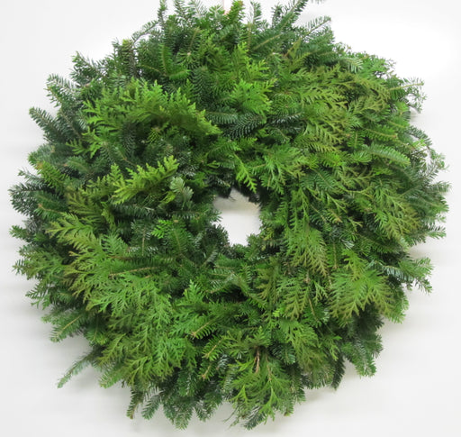 Single Face Fraser Fir & Cedar Wreath