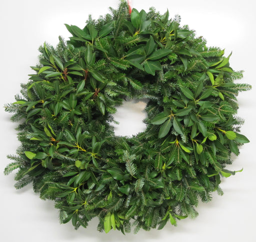 Single Face Fraser Fir & Mountain Laurel Wreath