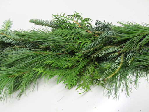 Fraser Fir, White Pine & Cedar Garland - Per Foot