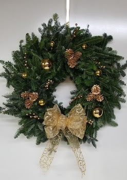 "22-24"" Golden Array of Elegance Wreath"