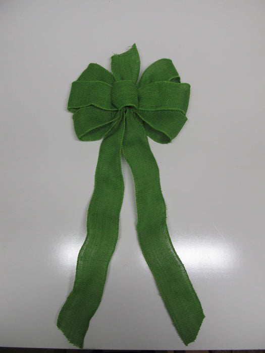 Green Apple Burlap Bow