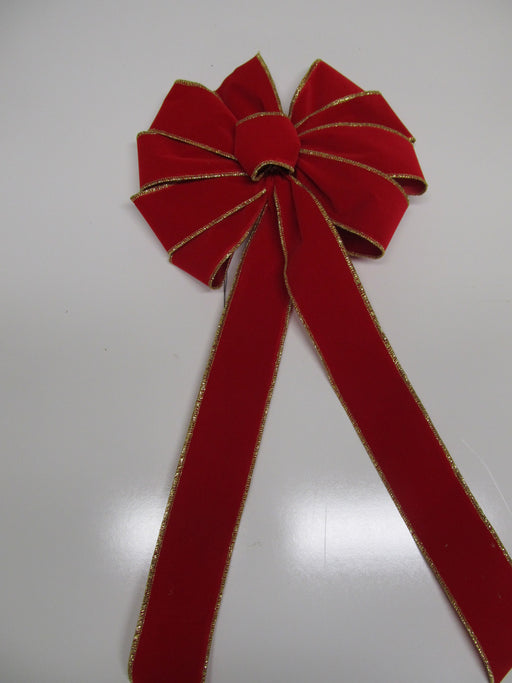 Red Velvet With Gold Edge Bow