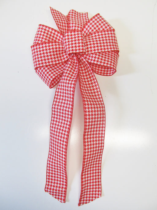 Red And White Checked Bow