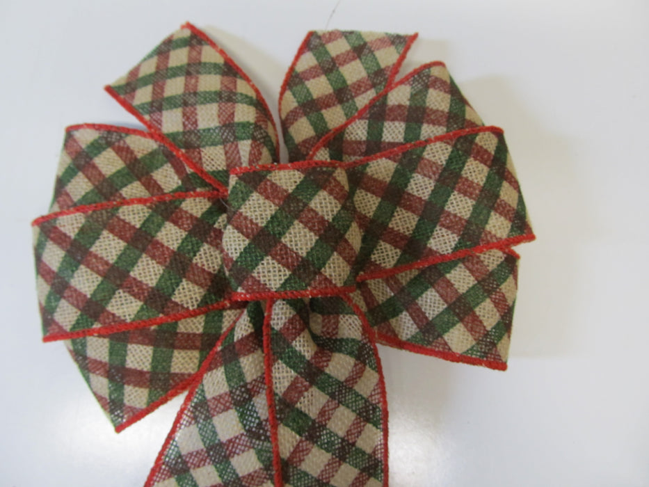 Plaid Burlap Bow