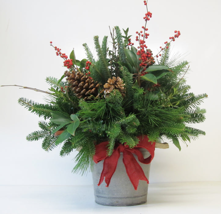 Christmas Pail Arrangement