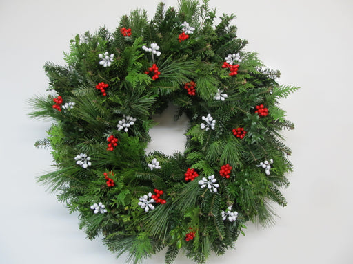 "22-24"" Berry Christmas Wreath"