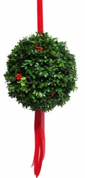"12"" Boxwood Christmas Ball"