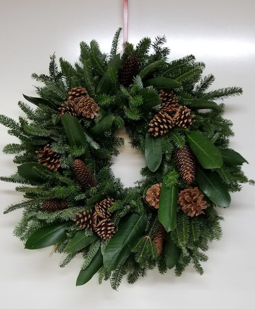 "22-24"" Single Face - Rustic Rhodo Elegance Wreath"