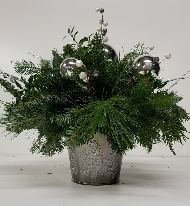 Silver Christmas Tree Arrangement