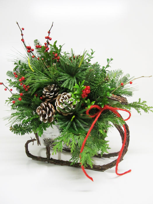 """White Christmas"" Sleigh Arrangement"
