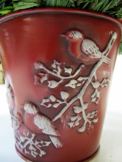 Snow Bird Tin Can Arrangement