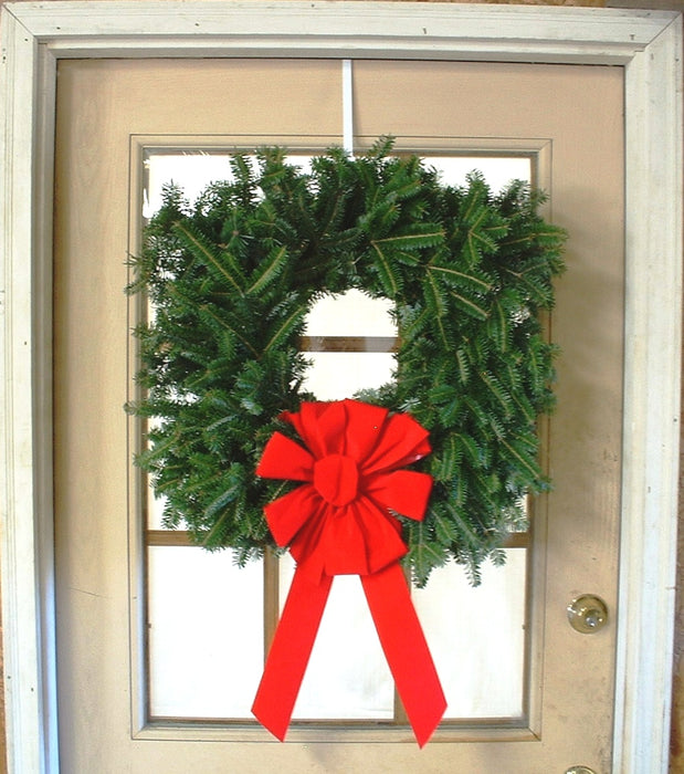 Single Face Fraser Fir Square Wreath