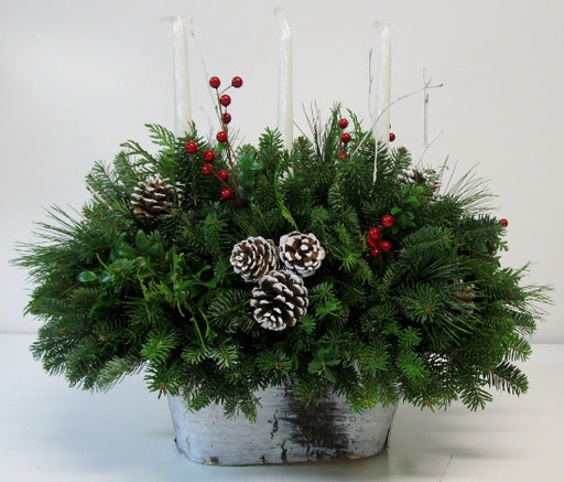 """White Christmas"" Centerpiece"