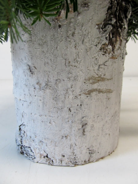 """White Christmas"" Birch Cylinder Arrangement"