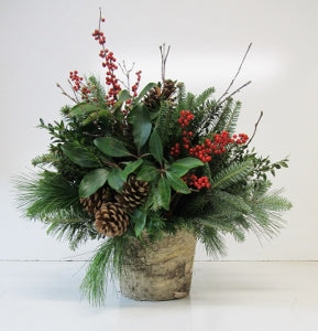 Winter Woodland Birch Bark Arrangement