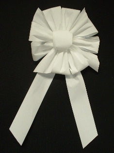 Large White Velvet Bow