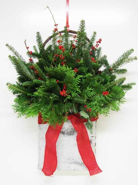 """White Christmas"" Hanging Wall Pocket Arrangement"
