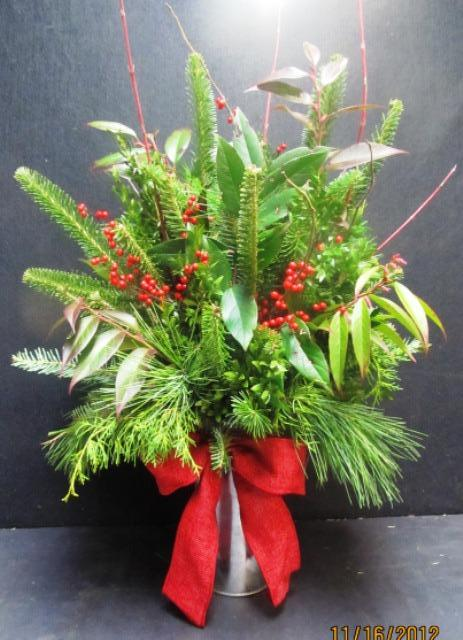 Christmas In A Can Arrangement