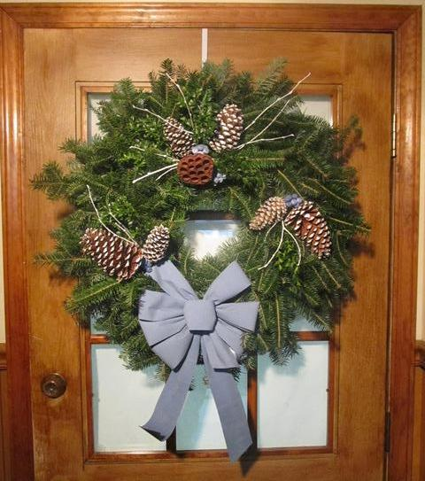 Country Blue Wreath