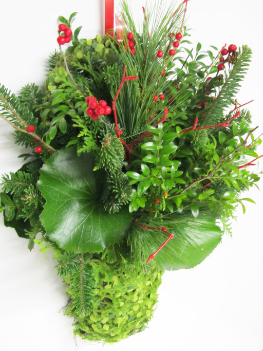 "The ""Hanging of the Greens"" Wall Basket Arrangement"