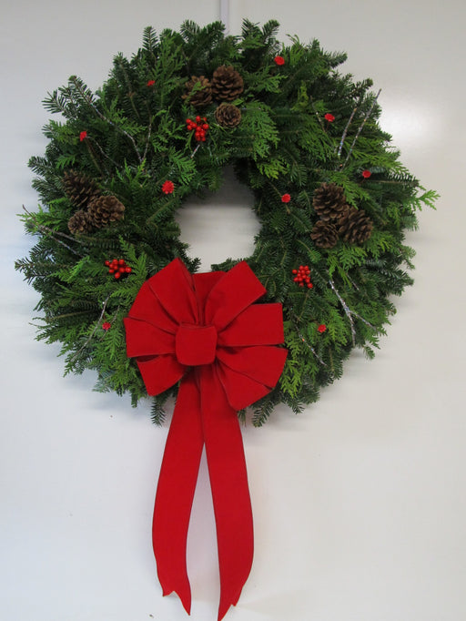 "22-24"" Natural Pine Cone Wreath"