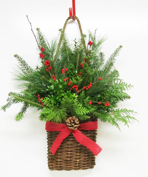 Merry Christmas Wall-Basket Arrangement