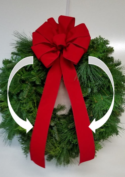 Single Face Cascading Wreath - Fraser Fir & Boxwood