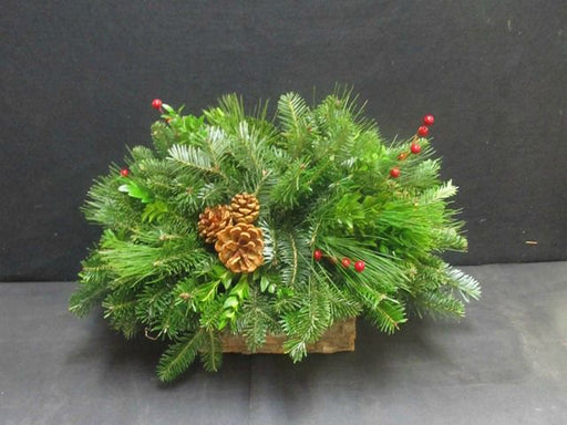 "12"" Centerpiece in a Pine Bark Box"