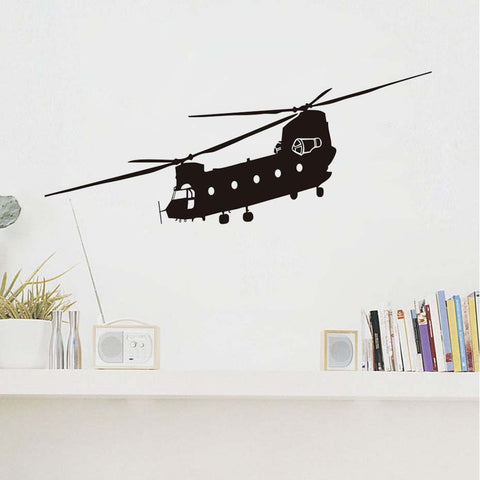 CH-47 Chinook Large Army Helicopter Wall Sticker Vinyl Self