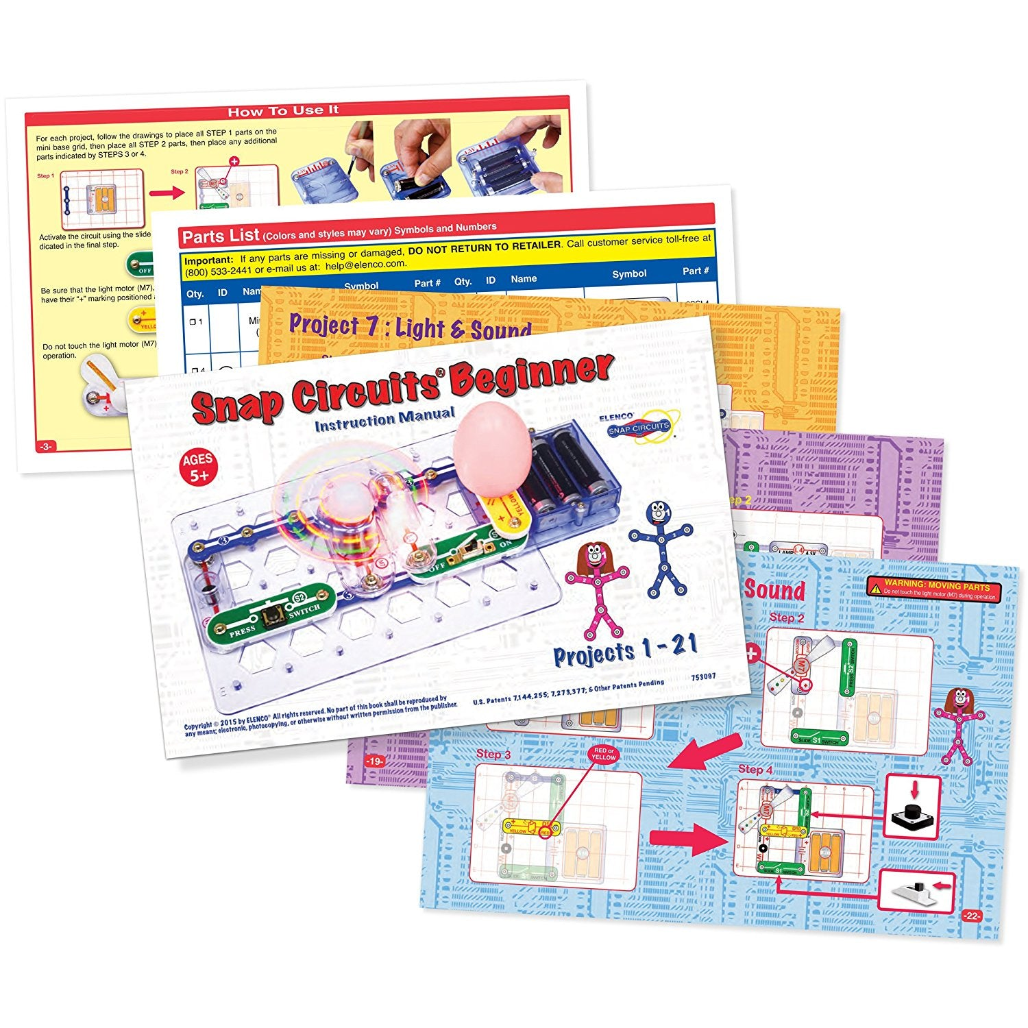 Snap Circuit Beginner Electronic Discovery Kit Thinkwaze