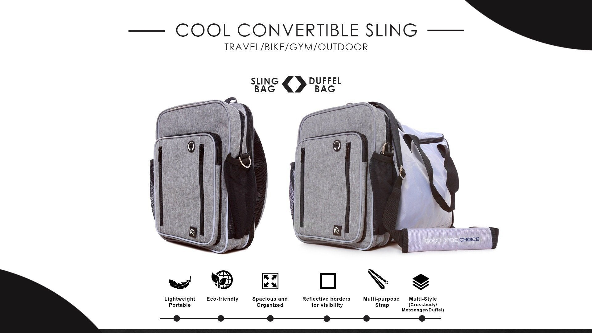 PRE-ORDER - Cool Convertible Sling Bag