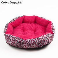 Leopard Print Cat and Dog Bed