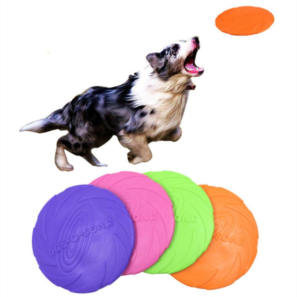 Soft Rubber Flying Discs Resistance Dog Toy