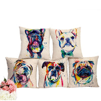Beautiful French Bulldog Printed Decorative Cushion Pillowcase