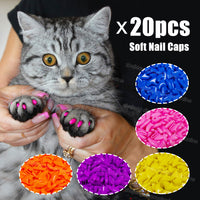 Silicone Colorful Soft Cat Nail Cap With Free Glue & Applicator