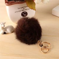 Fashion Rabbit Fur Ball Keychain