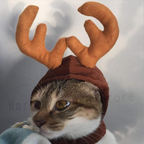 Reindeer Cap Cat Costume
