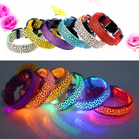 Fashion Leopard Nylon LED Dog Collar
