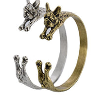 Vintage Fashion French Bulldog Bangle