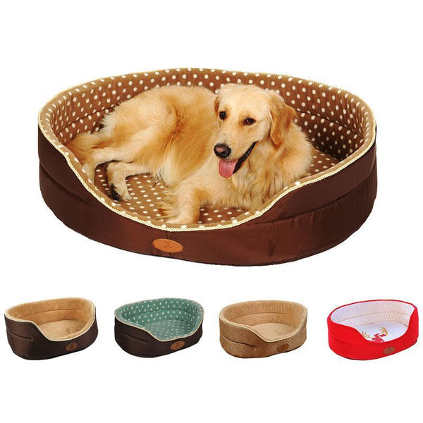 Double-Sided Soft Fleece Dog Bed