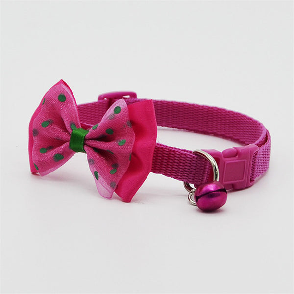 Cute Adjustable Polyester Cat & Dog Collar