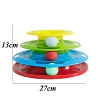 Interactive Cat Plate Ball Disk