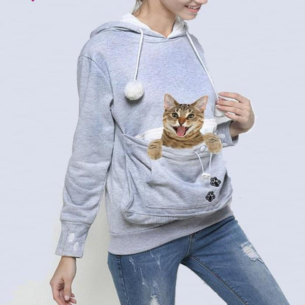 Cat Lovers Hoodie With Pocket