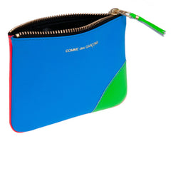 Orange/Blue Super Fluo Leather Coin Pouch
