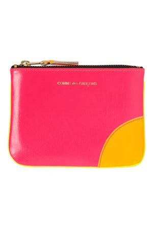 Pink/Yellow Super Fluo Leather Coin Pouch