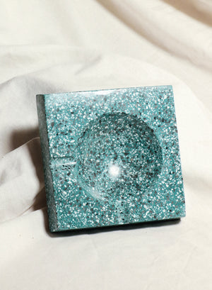 Green/Black Terrazzo Ashtray